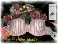 Push up BH Multiway weiß-rose + herausnehmbare Kissen Cup A/C