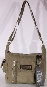 DESIGN CANVAS SHOPPER LUXUS BAG - KHAKI
