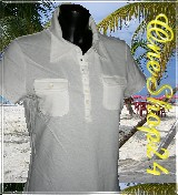 Poloshirt - T-Shirt - Stretch - 95% Cotton - weiß Gr. S + L