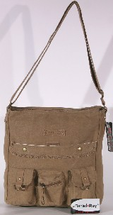 CANVAS SHOPPER LUXUS BAG TASCHE - beige