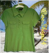 Poloshirt - T-Shirt - Stretch - 95% Cotton - grün Gr. M