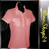 Poloshirt - T-Shirt - Stretch - 95% Cotton - pink Gr. S + XXL