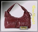 elegante Marken Handtasche - City Bag - bordeaux -
